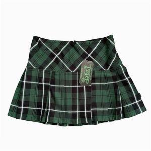 NWT Tripp Nyc Goth Plaid Pleated Mini Skirt